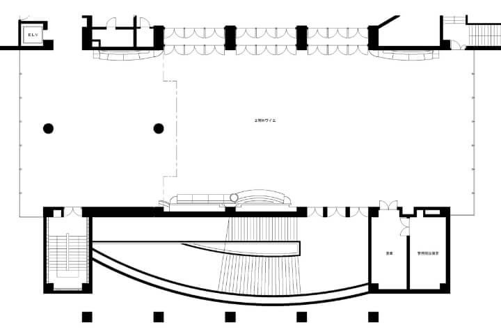 2階ホワイエ平面図
