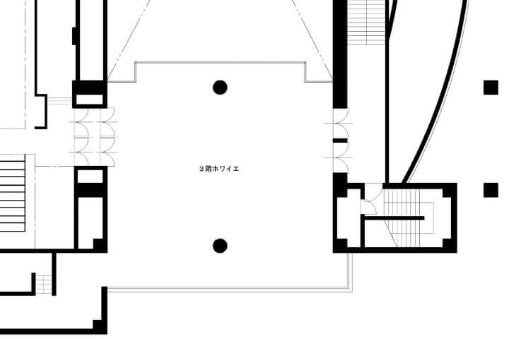 3階ホワイエ平面図