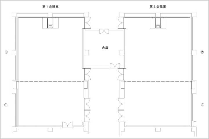 会議室平面図