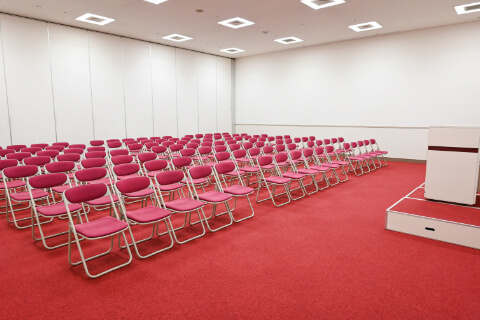 第1・第2会議室 シアター 型(112人収容)